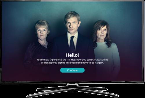 Device Pairing - ITV Hub